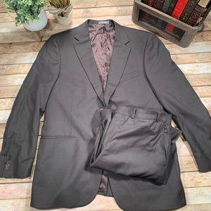 Oscar de la Renta 44R / 38W 2-Piece Wool Suit Vtg
